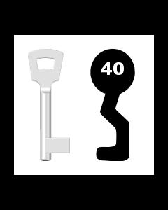 Buntbartschlüssel Pegau Nr. 40 (Abbildung von der Ringseite aus gesehen)