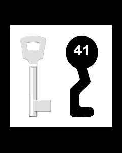 Buntbartschlüssel Pegau Nr. 41 (Abbildung von der Ringseite aus gesehen)