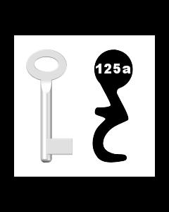 Buntbartschlüssel Standard Nr. 125a (Abbildung von der Ringseite aus gesehen)