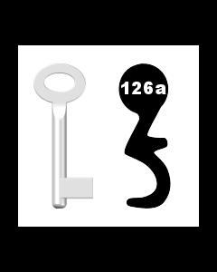 Buntbartschlüssel Standard Nr. 126a (Abbildung von der Ringseite aus gesehen)