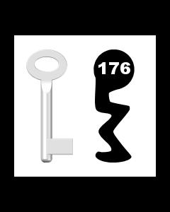 Buntbartschlüssel Standard Nr. 176 (Abbildung von der Ringseite aus gesehen)