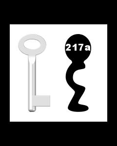 Buntbartschlüssel Standard Nr. 217a (Abbildung von der Ringseite aus gesehen)