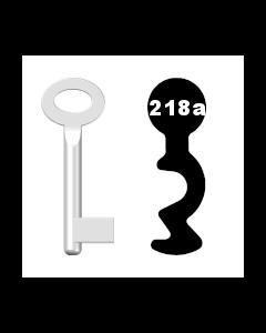Buntbartschlüssel Standard Nr. 218a (Abbildung von der Ringseite aus gesehen)