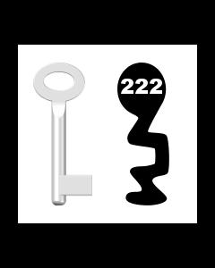 Buntbartschlüssel Standard Nr. 222 (Abbildung von der Ringseite aus gesehen)