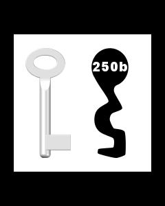 Buntbartschlüssel Standard Nr. 250b (Abbildung von der Ringseite aus gesehen)