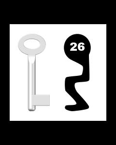 Buntbartschlüssel Standard Nr. 26