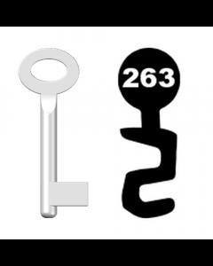 Buntbartschlüssel Standard Nr. 263 (Abbildung von der Ringseite aus gesehen)