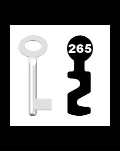 Buntbartschlüssel Standard Nr. 265 (Abbildung von der Ringseite aus gesehen)