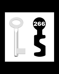 Buntbartschlüssel Standard Nr. 266 (Abbildung von der Ringseite aus gesehen)
