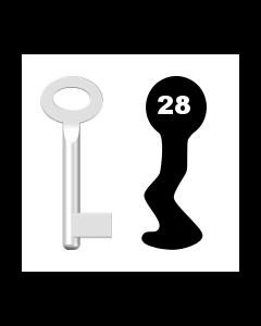 Buntbartschlüssel Standard Nr. 28