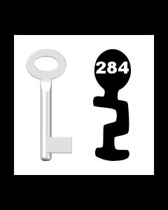 Buntbartschlüssel Standard Nr. 284 (Abbildung von der Ringseite aus gesehen)