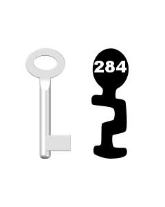 Buntbartschlüssel Standard Nr. 284