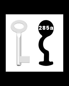 Buntbartschlüssel Standard Nr. 285a (Abbildung von der Ringseite aus gesehen)