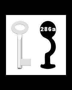Buntbartschlüssel Standard Nr. 286a (Abbildung von der Ringseite aus gesehen)