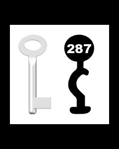 Buntbartschlüssel Standard Nr. 287 (Abbildung von der Ringseite aus gesehen)