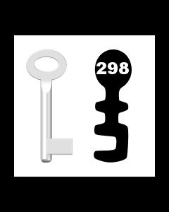 Buntbartschlüssel Standard Nr. 298 (Abbildung von der Ringseite aus gesehen)