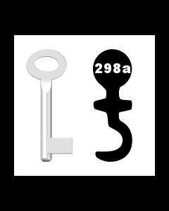 Buntbartschlüssel Standard Nr. 298a (Abbildung von der Ringseite aus gesehen)