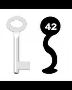 Buntbartschlüssel Standard Nr. 42 (Abbildung von der Ringseite aus gesehen)