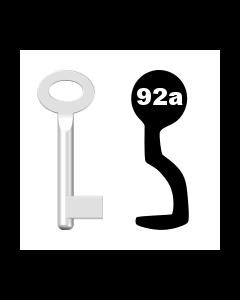 Buntbartschlüssel Standard Nr. 92a (Abbildung von der Ringseite aus gesehen)