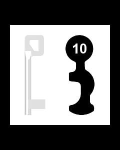 Buntbartschlüssel BASI Nr. 10