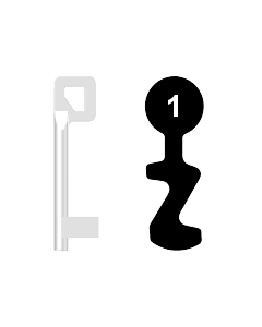 Buntbartschlüssel BASI Nr. 1