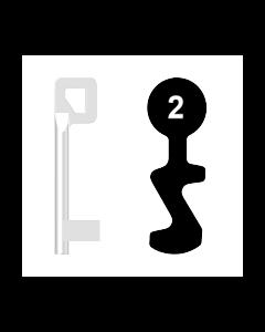Buntbartschlüssel BASI Nr. 2