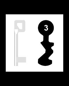 Buntbartschlüssel BASI Nr. 3