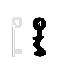 Buntbartschlüssel BASI Nr. 4