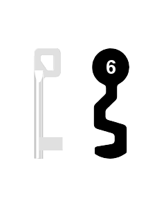 Buntbartschlüssel BASI Nr. 6