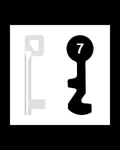 Buntbartschlüssel BASI Nr. 7