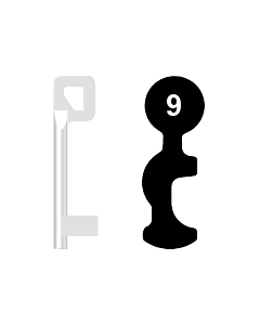 Buntbartschlüssel BASI Nr. 9