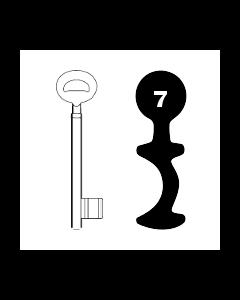 Buntbartschlüssel Bever & Klophaus System H Nr. 7
