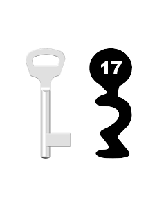 Buntbartschlüssel BKS Nr. 17