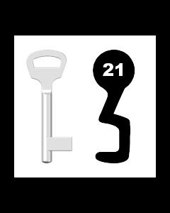 Buntbartschlüssel BKS Nr. 21