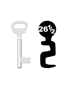 Buntbartschlüssel BKS Nr. 26 1/2