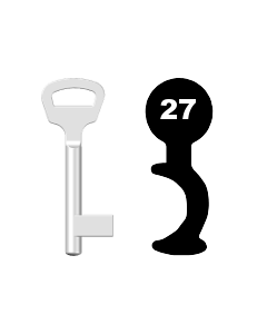 Buntbartschlüssel BKS Nr. 27