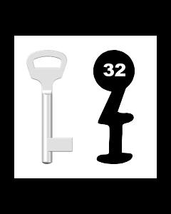 Buntbartschlüssel BKS Nr. 32