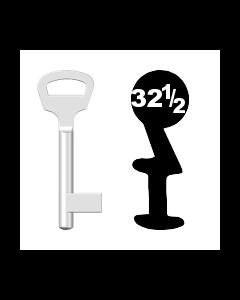 Buntbartschlüssel BKS Nr. 32 1/2