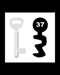 Buntbartschlüssel BKS Nr. 37