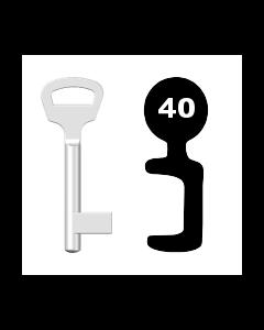 Buntbartschlüssel BKS Nr. 40