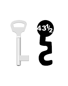 Buntbartschlüssel BKS Nr. 43 1/2