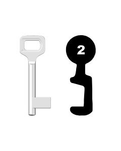 Buntbartschlüssel Dörrenhaus Nr. 2