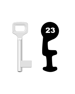 Buntbartschlüssel Dörrenhaus Nr. 23