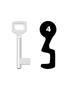 Buntbartschlüssel Dörrenhaus Nr. 4