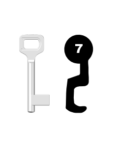 Buntbartschlüssel Dörrenhaus Nr. 7