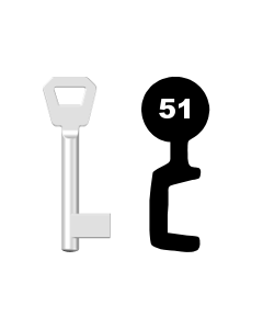 Buntbartschlüssel Fliether Nr. 51