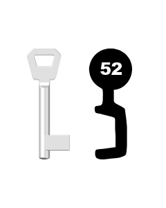 Buntbartschlüssel Fliether Nr. 52