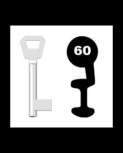 Buntbartschlüssel Fliether Nr. 60