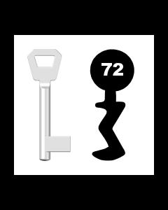 Buntbartschlüssel Fliether Nr. 72