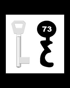 Buntbartschlüssel Fliether Nr. 73